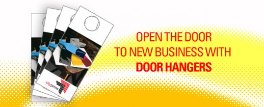 Open your door to new customers with door hangers
