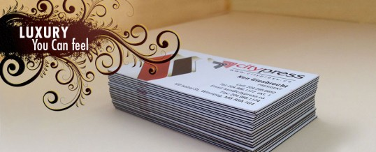 Triple Lush Paper… The Perfect Stock For Your Business Card