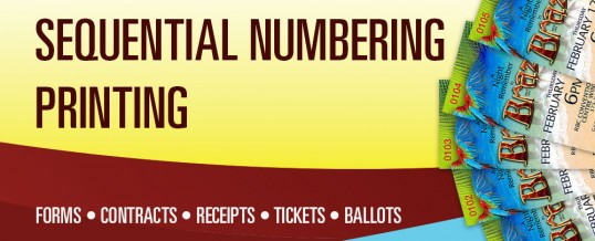 Sequential Numbering Printing